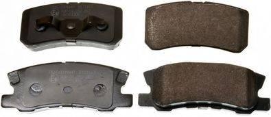 DENCKERMANN B111163 Комплект тормозных колодок, дисковый тормоз