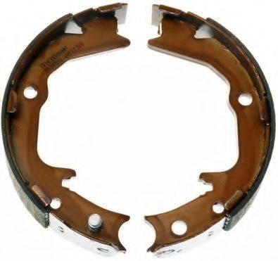 DENCKERMANN B120192 Комплект тормозных колодок, стояночная тормозная система
