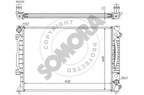 SOMORA 021341C Радиатор, охлаждение двигателя