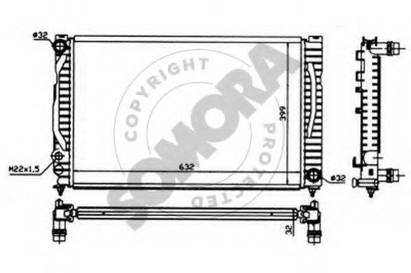 SOMORA 021342 Радиатор, охлаждение двигателя
