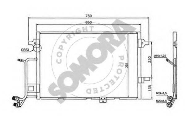 SOMORA 020960B Конденсатор, кондиционер
