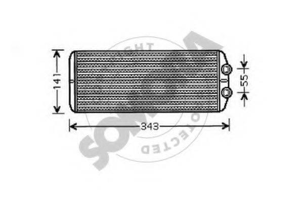 SOMORA 223450 Теплообменник, отопление салона