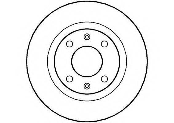 NATIONAL NBD022 Тормозной диск