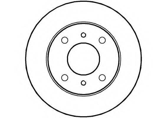 NATIONAL NBD068 Тормозной диск