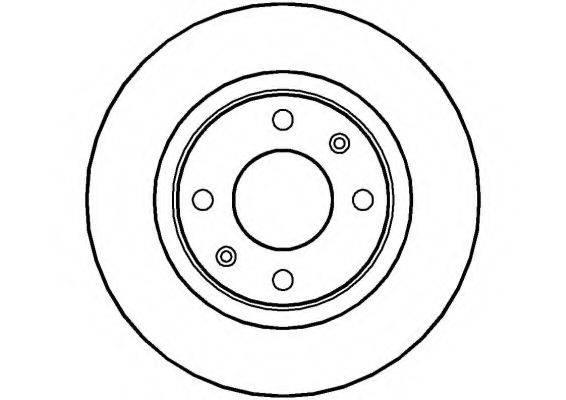 NATIONAL NBD121 Тормозной диск