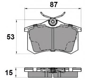 NATIONAL NP2037 Комплект тормозных колодок, дисковый тормоз
