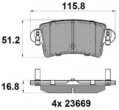 NATIONAL NP2033 Комплект тормозных колодок, дисковый тормоз