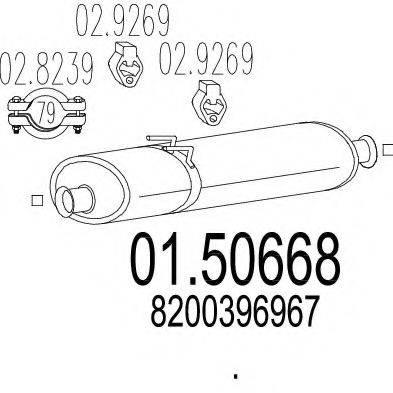 MTS 0150668 Средний глушитель выхлопных газов