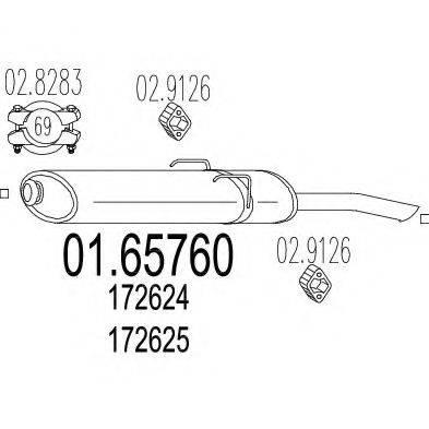 MTS 0165760 Глушитель выхлопных газов конечный