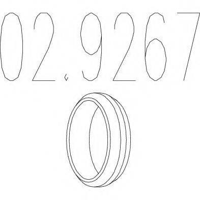MTS 029267 Уплотнительное кольцо, труба выхлопного газа