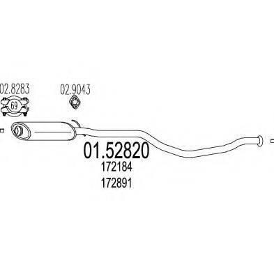 MTS 0152820 Средний глушитель выхлопных газов