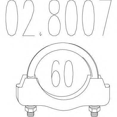 MTS 028007 Соединительные элементы, система выпуска