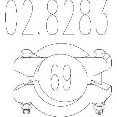 MTS 028283 Соединительные элементы, система выпуска
