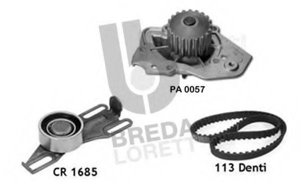 BREDA LORETT KPA0113A Водяной насос + комплект зубчатого ремня