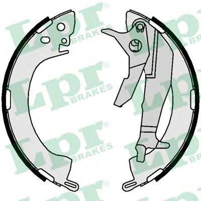 LPR 01081 Комплект тормозных колодок