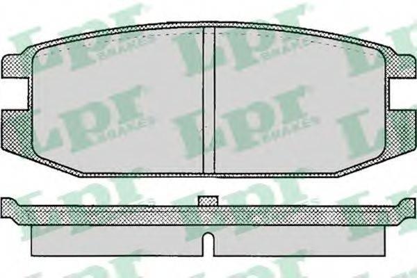 LPR 05P045 Комплект тормозных колодок, дисковый тормоз