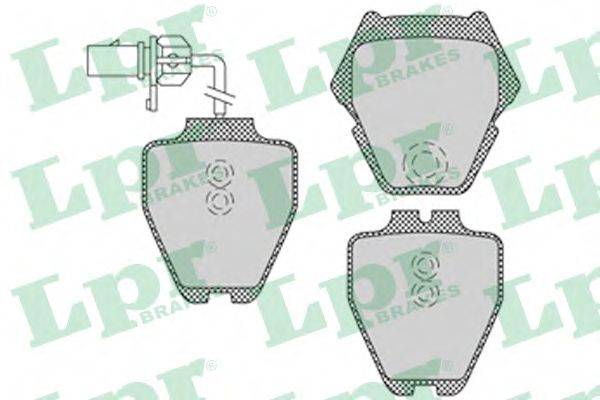 LPR 05P1121 Комплект тормозных колодок, дисковый тормоз