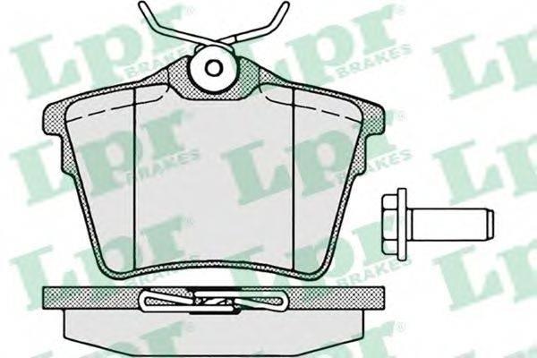 LPR 05P1195 Комплект тормозных колодок, дисковый тормоз