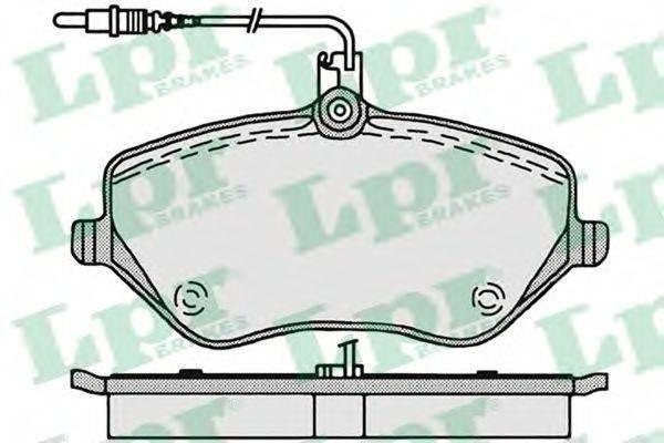 LPR 05P1202 Комплект тормозных колодок, дисковый тормоз