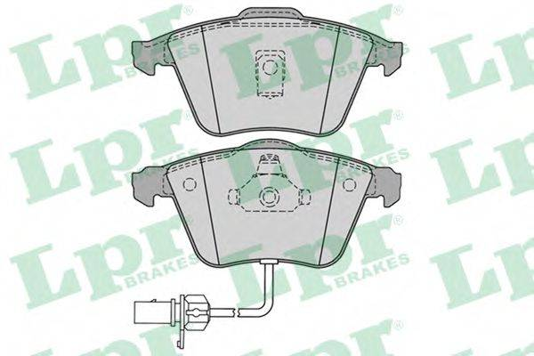 LPR 05P1230 Комплект тормозных колодок, дисковый тормоз