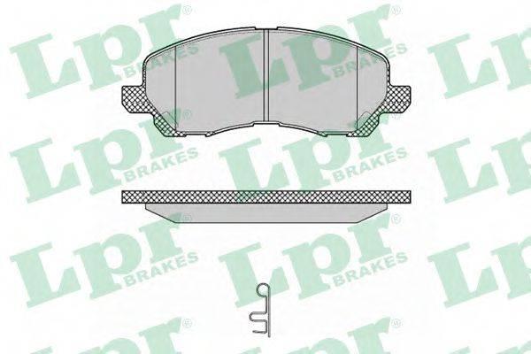 LPR 05P1347 Комплект тормозных колодок, дисковый тормоз