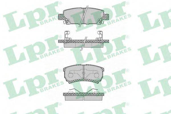 LPR 05P1373 Комплект тормозных колодок, дисковый тормоз