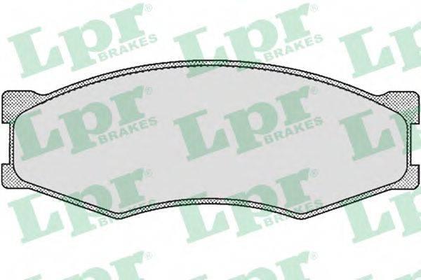 LPR 05P264 Комплект тормозных колодок, дисковый тормоз