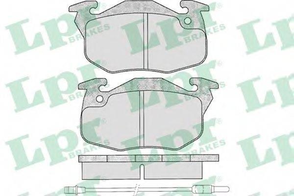 LPR 05P271 Комплект тормозных колодок, дисковый тормоз