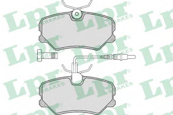 LPR 05P293 Комплект тормозных колодок, дисковый тормоз