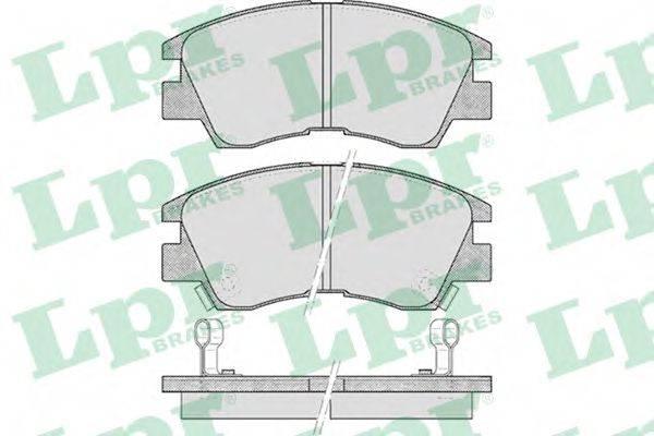 LPR 05P315 Комплект тормозных колодок, дисковый тормоз