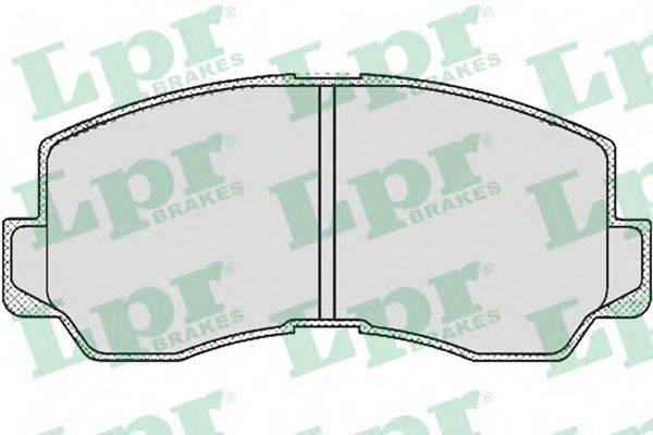 LPR 05P532 Комплект тормозных колодок, дисковый тормоз
