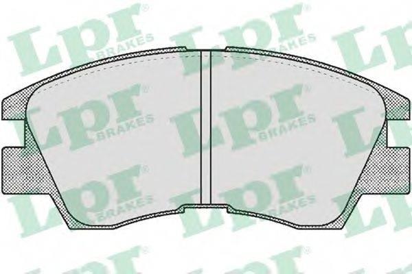 LPR 05P550 Комплект тормозных колодок, дисковый тормоз
