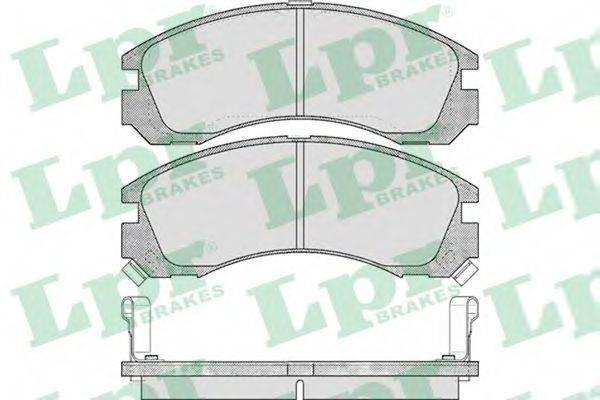 LPR 05P578 Комплект тормозных колодок, дисковый тормоз