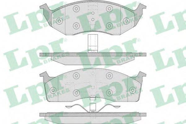 Комплект тормозных колодок, дисковый тормоз LPR 05P629
