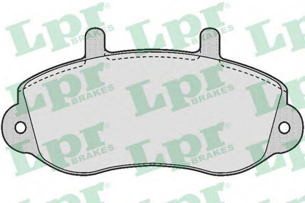 LPR 05P663 Комплект тормозных колодок, дисковый тормоз