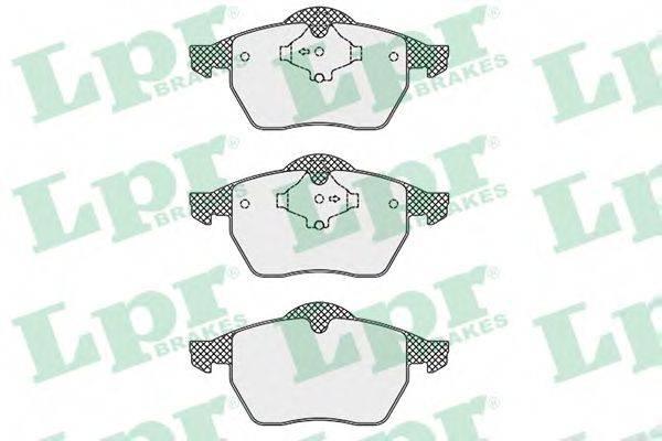 LPR 05P669 Комплект тормозных колодок, дисковый тормоз