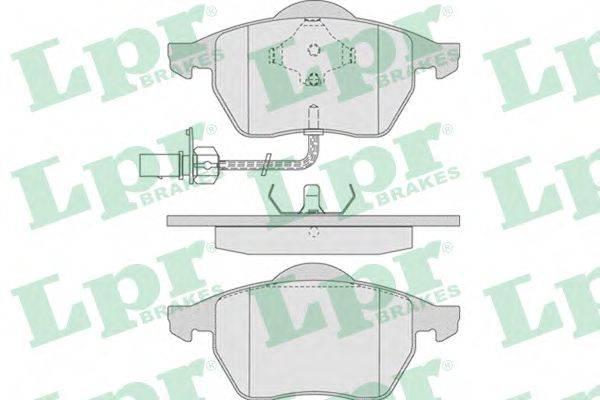 LPR 05P790 Комплект тормозных колодок, дисковый тормоз
