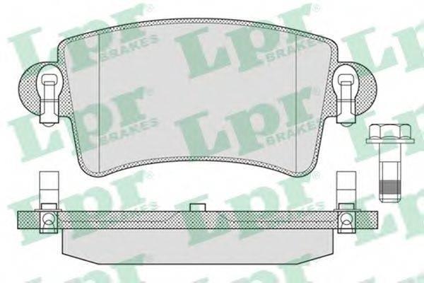 LPR 05P791 Комплект тормозных колодок, дисковый тормоз