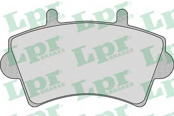 LPR 05P884 Комплект тормозных колодок, дисковый тормоз