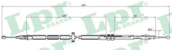 LPR C0052B Трос, стояночная тормозная система