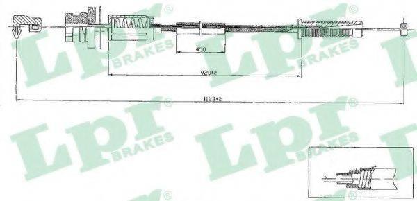 LPR C0079A Тросик газа