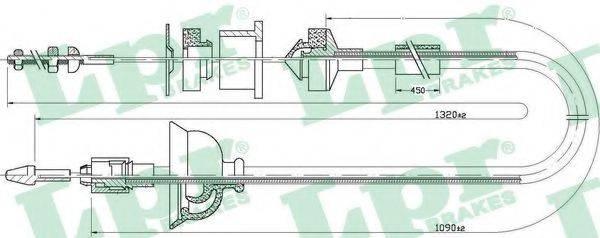 LPR C0168C Трос, управление сцеплением
