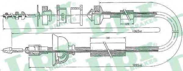 LPR C0170C Трос, управление сцеплением