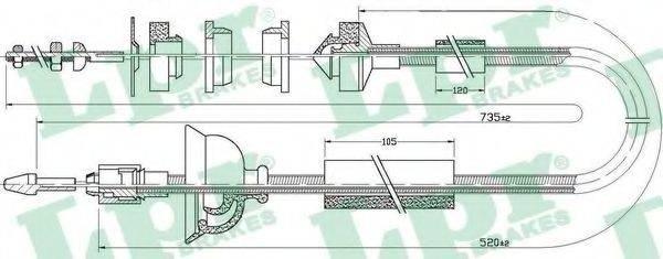 LPR C0323C Трос, управление сцеплением