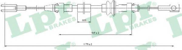 LPR C0368B Трос, стояночная тормозная система