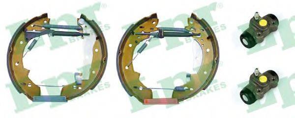 LPR OEK087 Комплект тормозных колодок