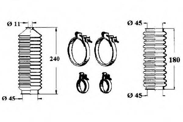 OCAP 0901129 Комплект пылника, рулевое управление
