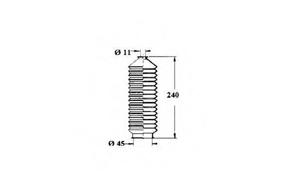 OCAP 1211261 Пыльник, рулевое управление