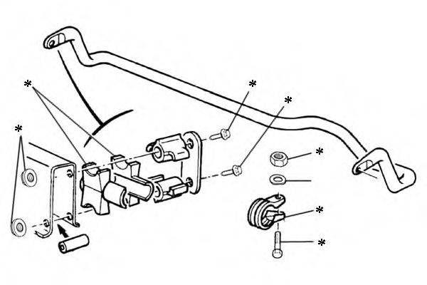OCAP 0902263 Ремкомплект, соединительная тяга стабилизатора