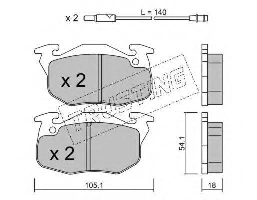 TRUSTING 0392 Комплект тормозных колодок, дисковый тормоз